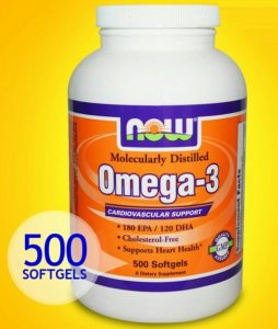 Омега-3 NOW 500 капсул